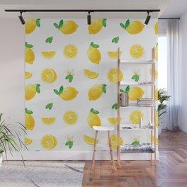 Bittersweet Mellow Bright Yellow Lemon Teeshirt,Yellow sour fruit, High quality lemon pattern, summe Wall Mural