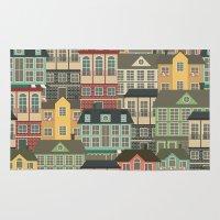 urban Area & Throw Rugs featuring Urban by Julia Badeeva