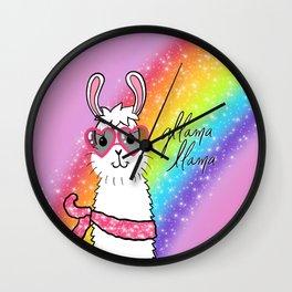 Gllama Llama Wall Clock