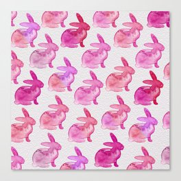 Watercolor Bunnies 1E by Kathy Morton Stanion Canvas Print