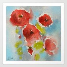 Roses (watercolor) Art Print