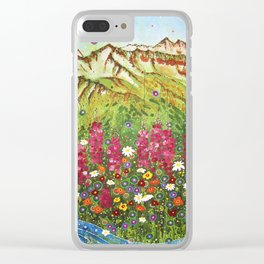Alyeska Fireweed Clear iPhone Case