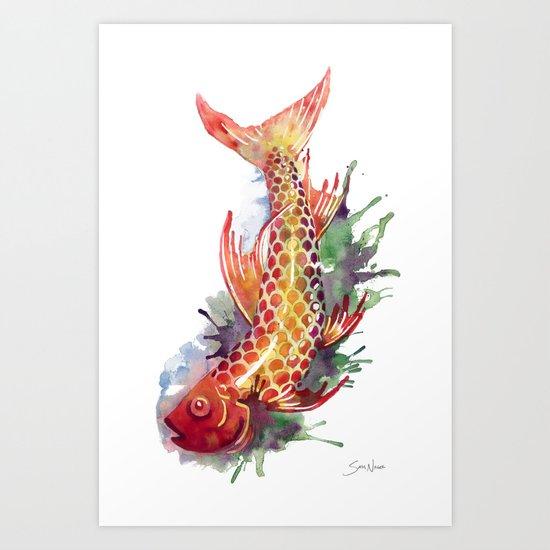 Fish Splash Art Print