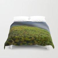 moss Duvet Covers featuring Moss by Ezekiel