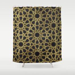Islamic Ornaments Shower Curtain