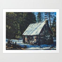 Cozy Cabin Art Print