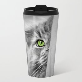Small brother is watching you (b&w) Travel Mug