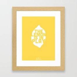 The Lemon is in Play Framed Art Print
