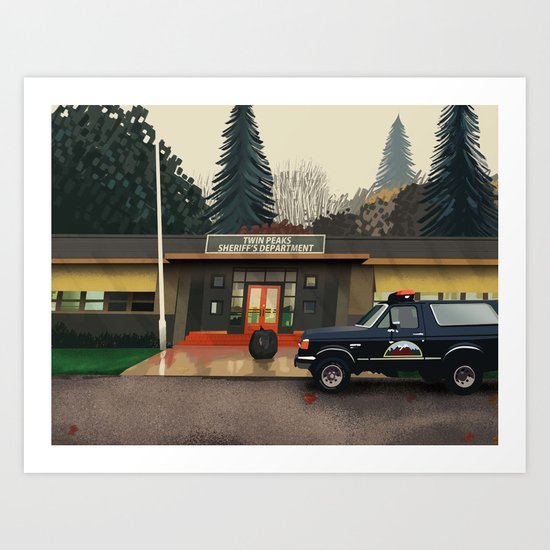 Sheriff's department Art Print