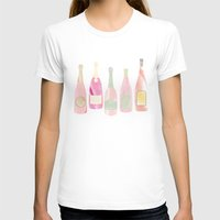 champagne T-shirts featuring Champagne Everyday by Angela Stevens