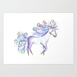 Cute Watercolour Unicorn Art Print