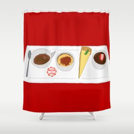 Café Gourmet Set Shower Curtain