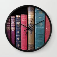 library Wall Clocks featuring library by Liudvika's Lens