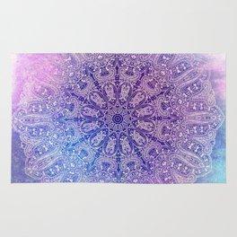 big paisley mandala in light purple Rug