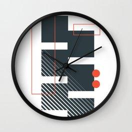 Abstract Geometric cube Wall Clock