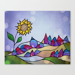 my little village and its sun -2- Canvas Print