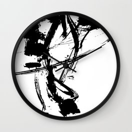 Brushstrokes No.16A by Kathy Morton Stanion Wall Clock