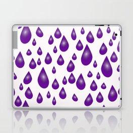 Purple Raindrops Laptop & iPad Skin