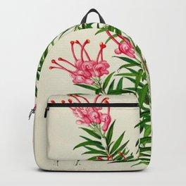 Grevillea Rosea Vintage Botanical Floral Flower Plant Scientific Illustration Backpack