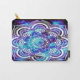 Mandala : Bright Violet & Teal Galaxy Carry-All Pouch