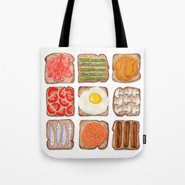 Breakfast Toast Tote Bag