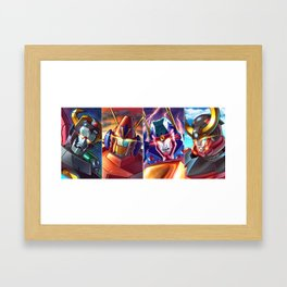 Super Robots! Framed Art Print
