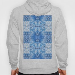 212 - Blue Sky and clouds abstract pattern Hoody