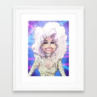 dolly parton Framed Art Prints featuring DOLLY PARTON by Jessica Dudfield