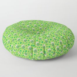 St Patrick's Day Green Beer Pattern Floor Pillow