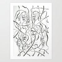 Fractal Face  Art Print