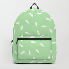 Water Drops on Mint Green Background Backpack