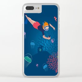 Diver Clear iPhone Case