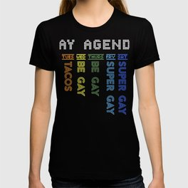 Hilarious Gay Agenda Love LGBT Pride Gift Design print T-shirt
