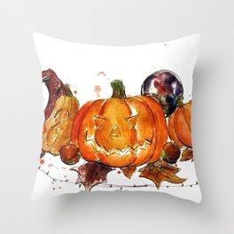 Pumpkins + Squashes Throw Pillow
