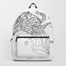 zen octopus under water Backpack