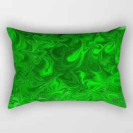 acid swirls  Rectangular Pillow