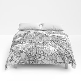 Amsterdam White Map Comforters