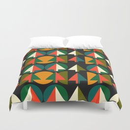 Retro Christmas trees Duvet Cover