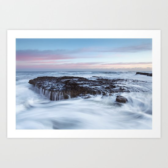 Filey Brigg Waves Art Print