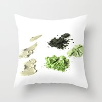 makeup Throw Pillows featuring makeup 02 by VanessaGF