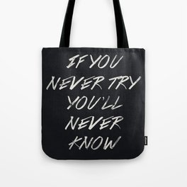 II. If you never try Tote Bag