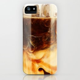 Magic of Ice Cafe Latte Coffee iPhone Case