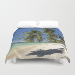 Palm beach, the Seychelles, La Digue island, Duvet Cover