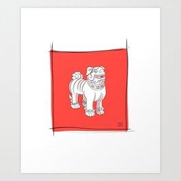 Foo Dog Art Print