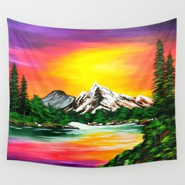 Sunset Mountains Wall Tapestry