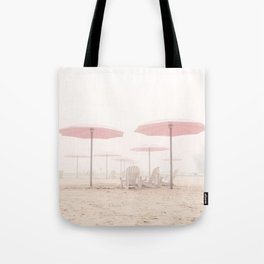 Foggy Beach Tote Bag