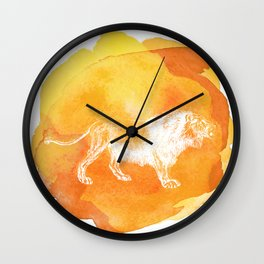 Color Spot Safari Lion Wall Clock