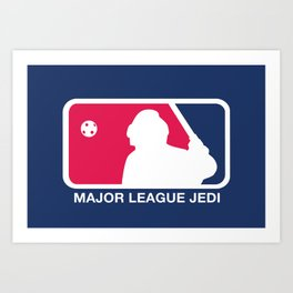 Major League Jedi Art Print