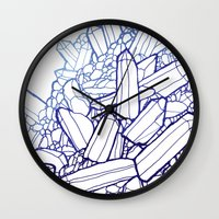 crystals Wall Clocks featuring Crystals by fossilized