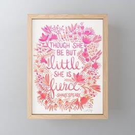 Little & Fierce – Pink Ombré Framed Mini Art Print